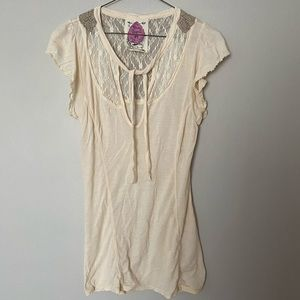 Free People Lace Back Top Size Medium